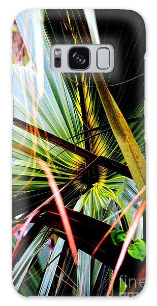Palm Through The Fronds Galaxy Case