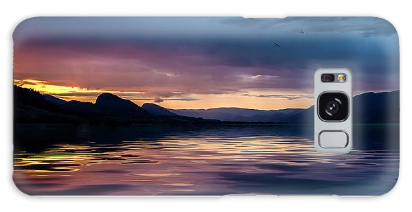 Galaxy Case featuring the photograph Across The Clouds I See My Shadow Fly by John Poon