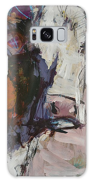 Modern Abstract Cow Painting Galaxy Case