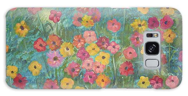 A Field Of Flowers Galaxy Case by John Keaton