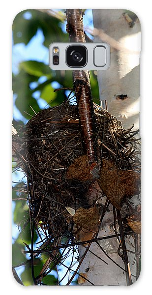Bird Nest In Birch Tree Galaxy Case