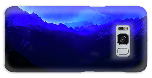 Galaxy Case featuring the photograph Blue by John Poon
