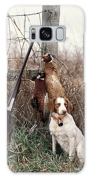 Brittany And Pheasants - Fs000757b Galaxy Case