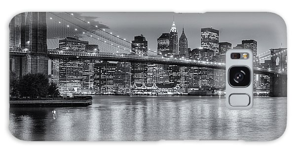 Brooklyn Bridge Twilight II Galaxy Case by Clarence Holmes