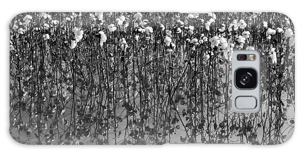 Cotton Abstract In Black And White Galaxy Case