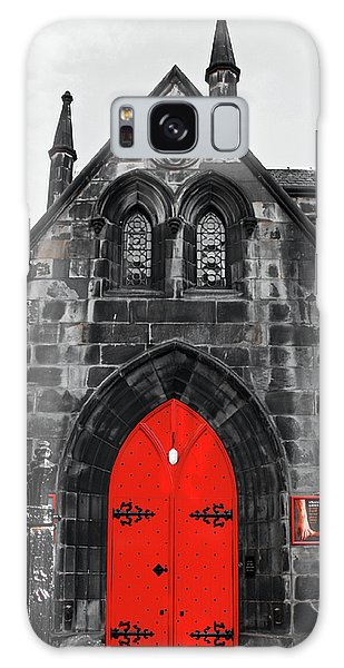 Edinburgh Door Galaxy Case by Martina Fagan