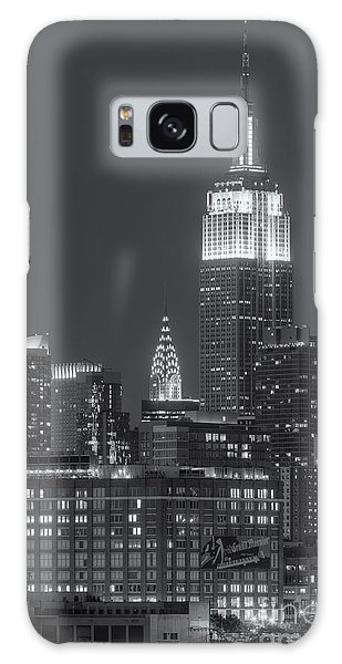 Empire State And Chrysler Buildings At Twilight II Galaxy Case by Clarence Holmes
