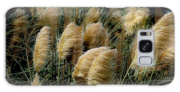 Golden Pampas In The Wind Galaxy Case by DigiArt Diaries by Vicky B Fuller