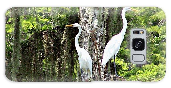 Great White Egrets Galaxy Case