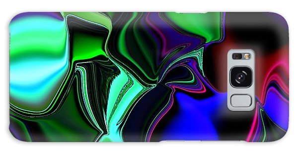 Green Nite Distortions 4 Galaxy Case by Greg Moores