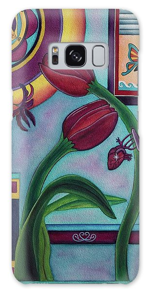 Lifting And Loving Each Other Galaxy Case by Lori Miller