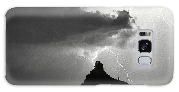 Lightning Striking Pinnacle Peak Arizona Galaxy Case