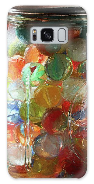 Marbles In A Jar 2 Painterly Galaxy Case