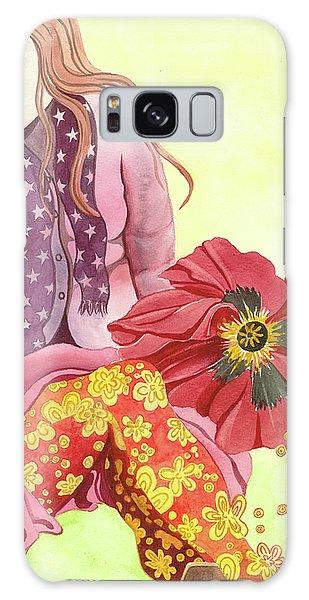 Margaret's Magic Stockings Galaxy Case by Sheri Howe