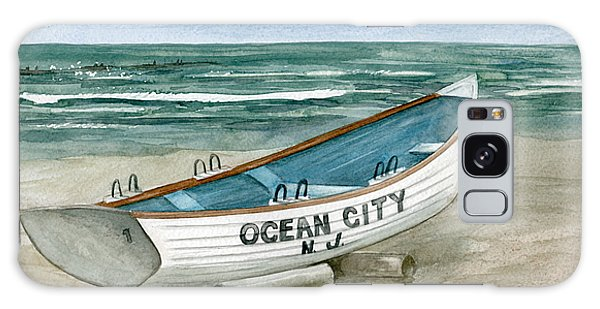 Ocean City Lifeguard Boat Galaxy Case