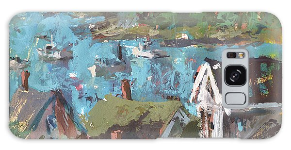 Original Modern Abstract Maine Landscape Painting Galaxy Case