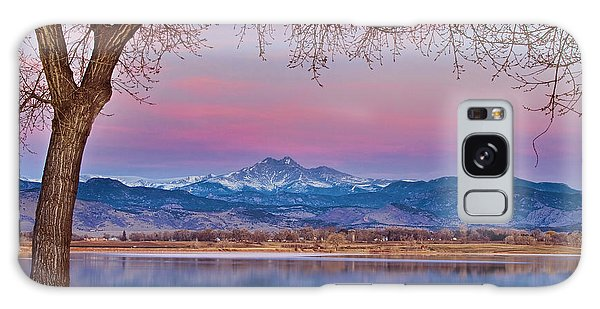 Peaceful Early Morning First Light Longs Peak View Galaxy Case