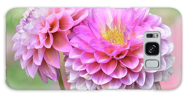 Galaxy Case featuring the photograph Pompon Dahlias by John Poon