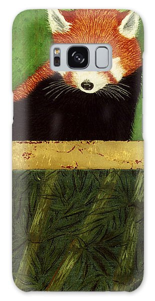 Red Panda And Bamboo Galaxy Case