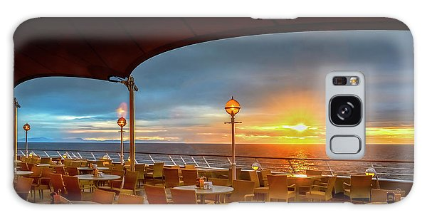 Galaxy Case featuring the photograph Sea Cruise Sunrise by John Poon