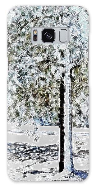 Snowy Tree Galaxy Case