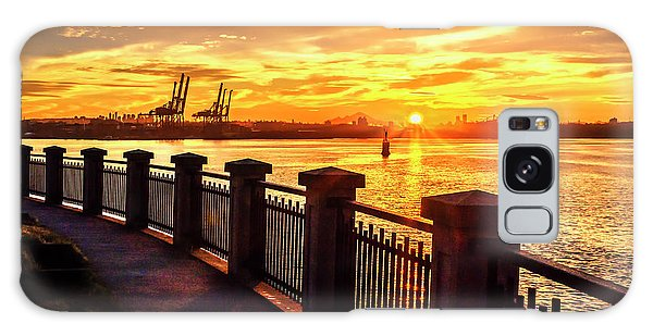 Galaxy Case featuring the photograph Sunrise At The Harbor by John Poon