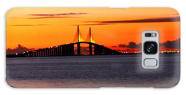 Sunset Over The Skyway Bridge Galaxy Case