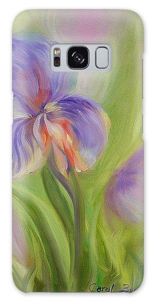 Tennessee Iris Two Galaxy Case by Carol Berning