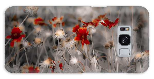 Wildflowers Of The Dunes Galaxy Case by DigiArt Diaries by Vicky B Fuller
