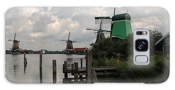 Windmills 2 Galaxy Case by Vilas Malankar