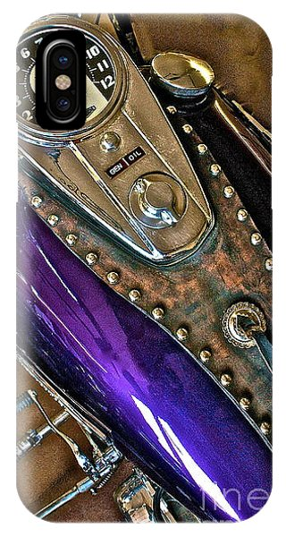 1953 Purple Harley Panhead IPhone Case