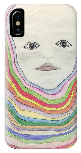 IPhone Case featuring the drawing   The Masks by Deahn      Benware