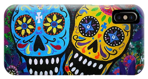 Couple Day Of The Dead IPhone Case