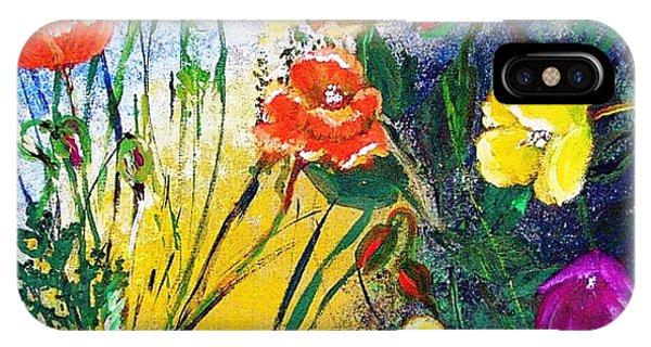 Abendwiese       Evening Garden Phone Case by Birgit Schlegel