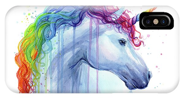 Rainbow Unicorn Watercolor IPhone Case