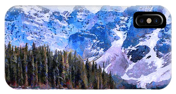 Canadian Rocky Mountain Scene IPhone Case