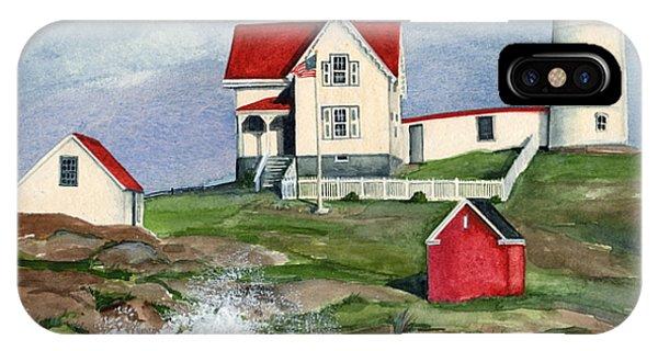 Cape Neddic Lighthouse  IPhone Case