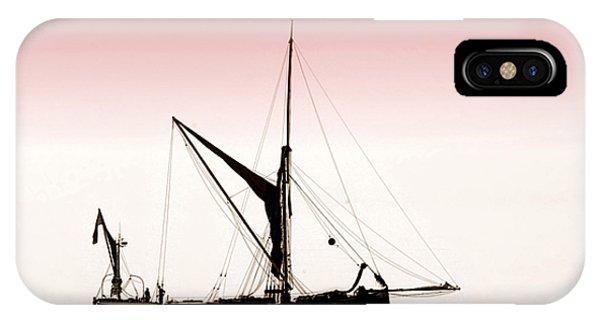 Coble Sailing  Against Pint Sky IPhone Case