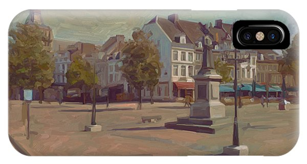 Corner Bosch Street And Market Maastricht IPhone Case