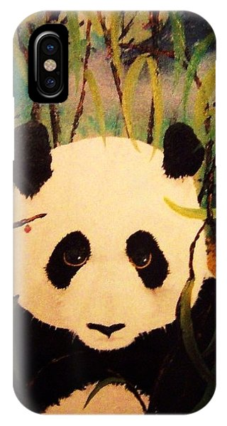 IPhone Case featuring the painting Endangered Panda by Deahn      Benware