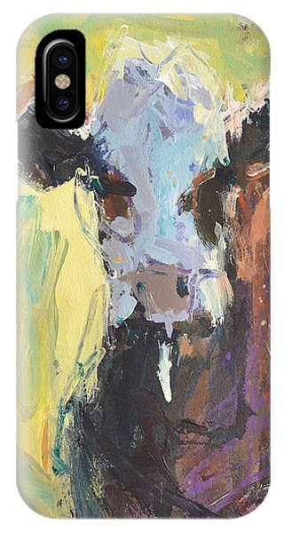 Expressive Cow Artwork IPhone Case