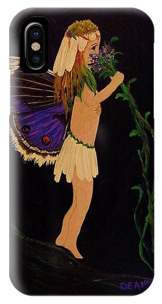 IPhone Case featuring the painting Fairy Girl by Deahn      Benware