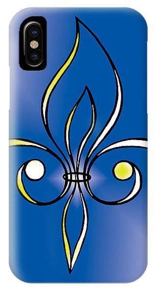 Fleur De Lis In Gold IPhone Case