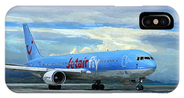 Jetairfly Boeing 767 In Costa Rica IPhone Case