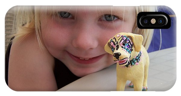 Lacey's Face Painted Dog IPhone Case