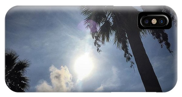 IPhone Case featuring the photograph Looking Up - Palm Trees by Dirk Jung