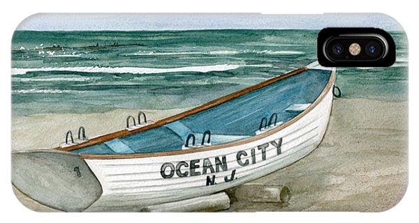 Ocean City Lifeguard Boat IPhone Case
