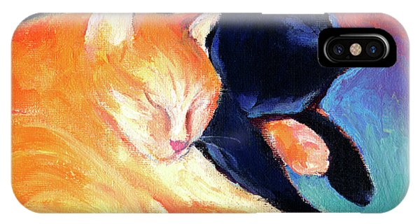 Orange And Black Tabby Cats Sleeping IPhone Case