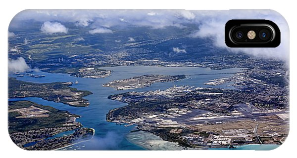 Pearl Harbor Aerial View IPhone Case