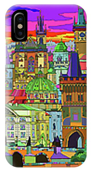iPhone Case - Prague Panorama Old Town by Yuriy Shevchuk